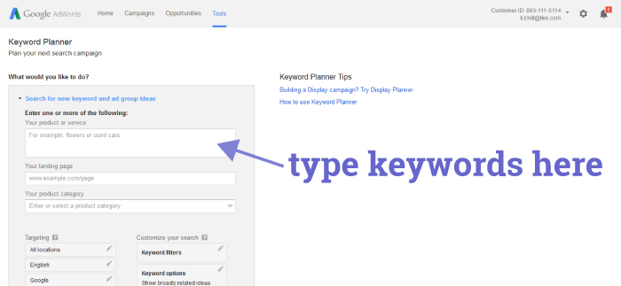 How To Use Google Keyword Planner 02
