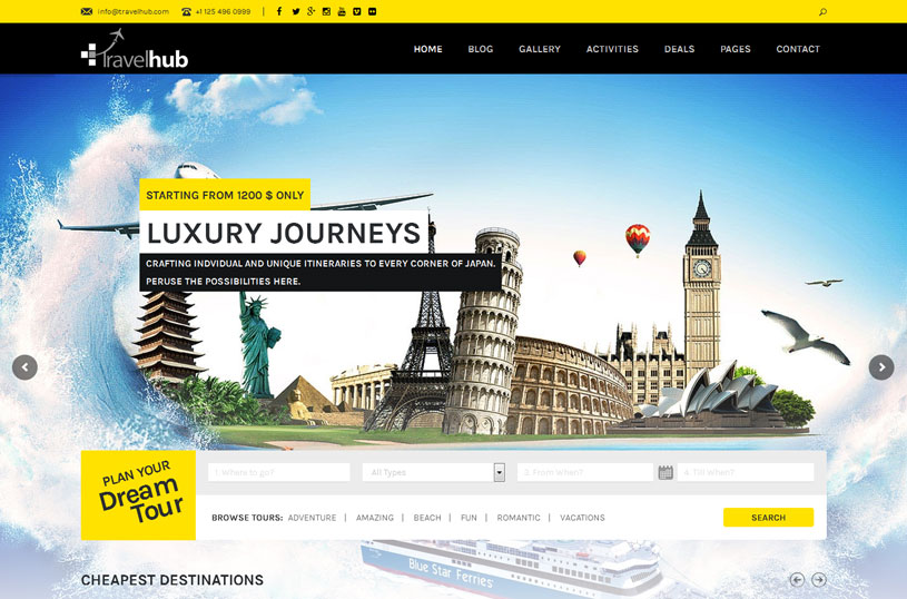 thiết kế website du lịch chuyên nghiệp đẳng cấp