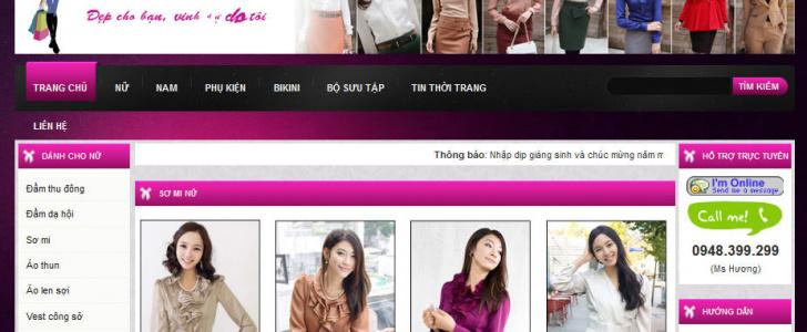 Thiet Ke Website Thoi Trang