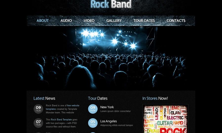 Mẫu website nghe nhạc đông người xem