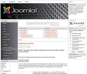 Joomla Demo Site 300px