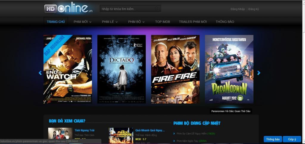 Mẫu thiết kế web xem phim đẹp