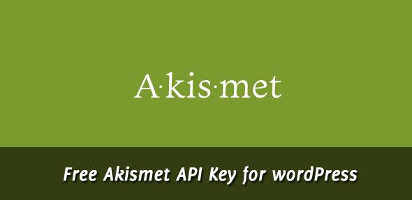 Free Akismet Api Key WordPress
