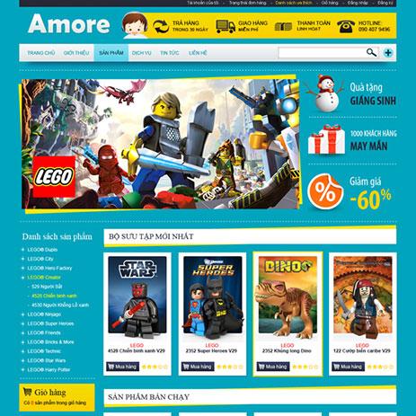 Mẫu thiết kế web bán đồ chơi chuyên nghiệp
