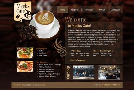 Mẫu website bán cà phê chuyên nghiệp