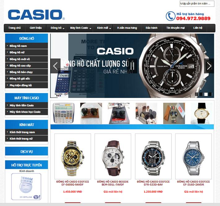 Thiết kế web bán đồng hồ casino