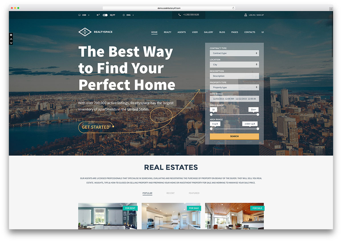 Realtyspace Modern Real Estate Html5 Template