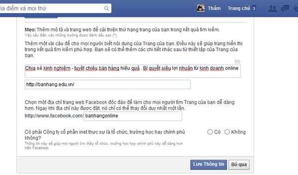 Tao Fanpage Facebook 5