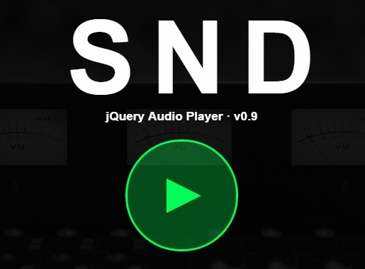 Minimal Custom Audio Player Plugin With JQuery SND