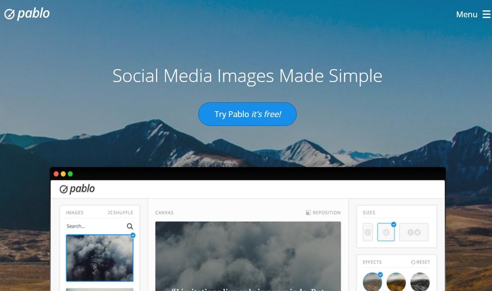 Pablo Social Media Website Tool