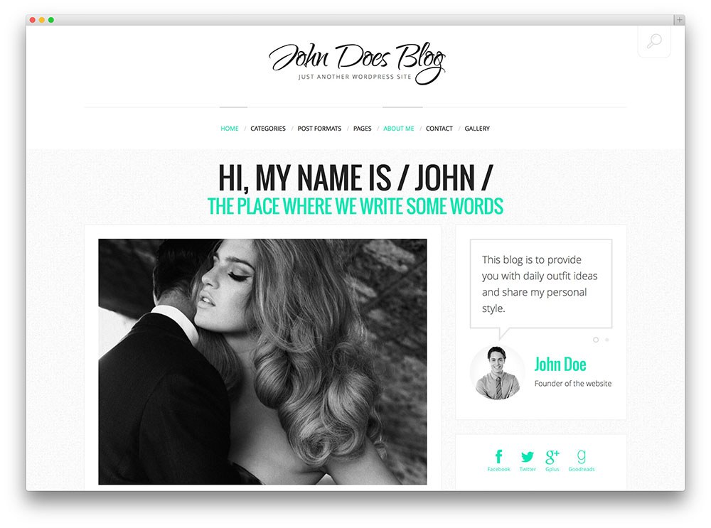 John Does Blog Theme