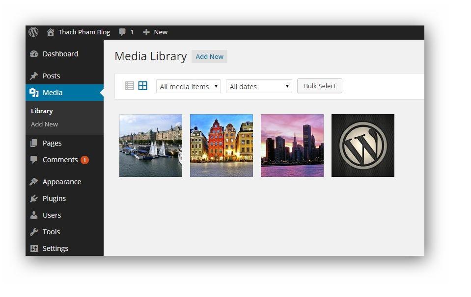 Media Library WordPress