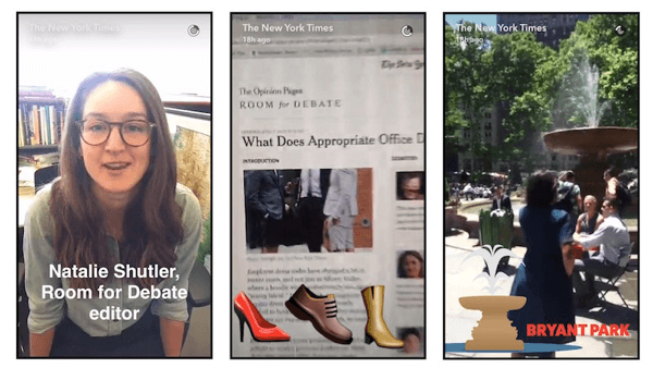 Snapchat Video New York Times