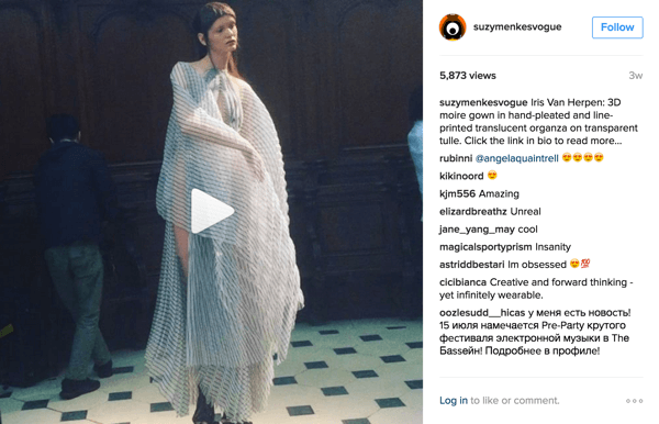 Ss Instagram Video Suzy Menkes