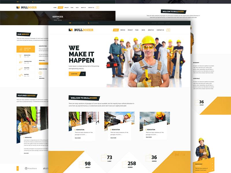 Hình ảnh website giới thiệu công ty xây dựng