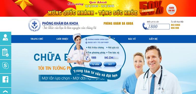 Thiet Ke Website Phong Kham Tu Tai Quan 9 Ho Chi Minh