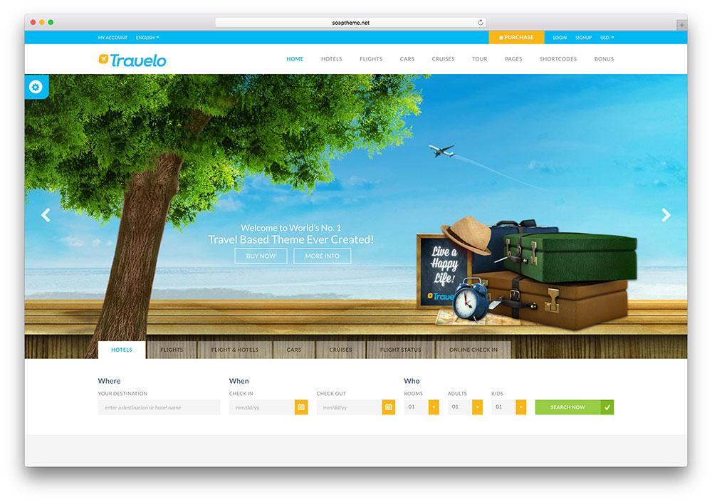 Travelo có thể xem là một trong những mẫu web du lịch được sử dụng nhiều nhất của năm 2016 đầu năm 2017 vừa qua.