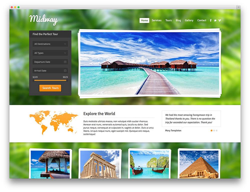 Với giao diện nền xanh tạo sự tươi mát cũng là một mẫu website đáng thiết kế