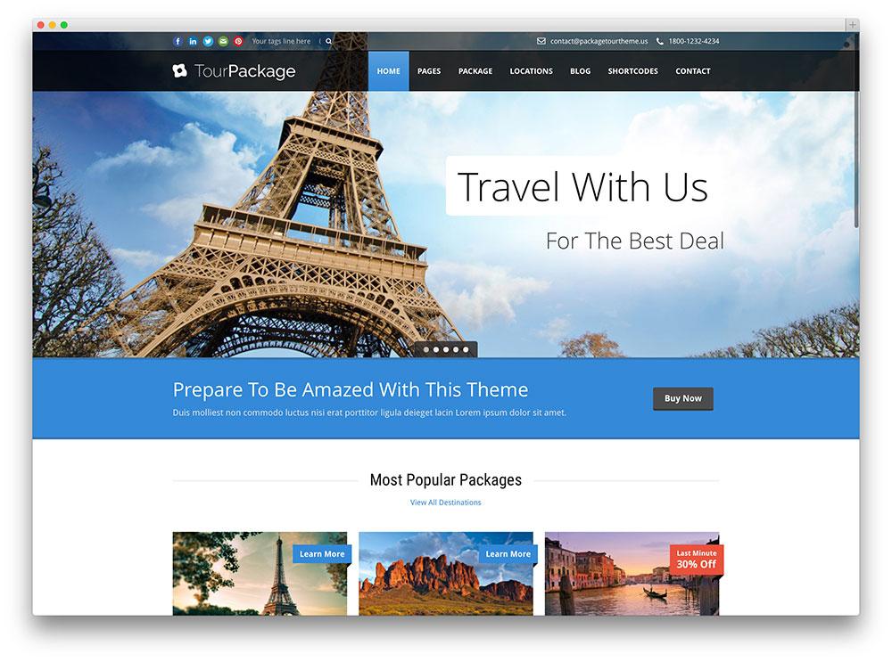 """Mẫu này có ưu điểm là đưa những nơi """"hot"""" nhất ra đầu trang, nên sắc thái đa màu sắc, tạo cảm hứng đi du lịch cho khách hàng"""