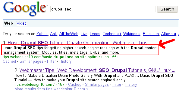 Meta Description Drupal