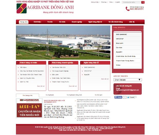 11 1 Giao Dien Than Thien Cua Web Ngan Hang Agribank Dong Anh