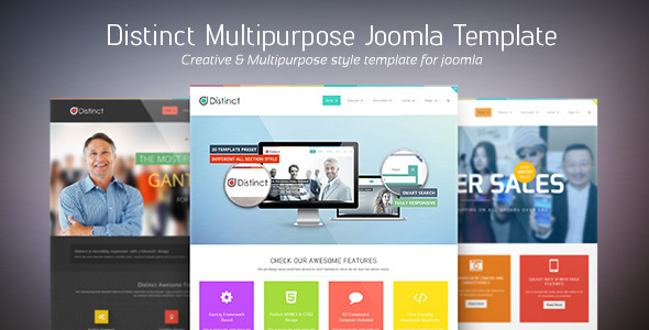 Distinct Multi Purpose Joomla Template