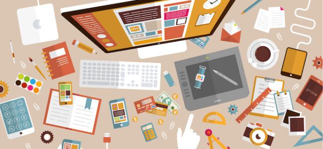 Set Of Flat Design Icons. Mobile Phones, Tablet PC, Marketing Technologies, Mobile Apps, Email, Vide
