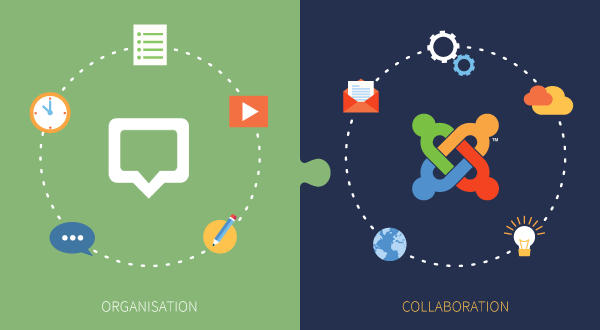 Joomla Glip Collaboration 600x330