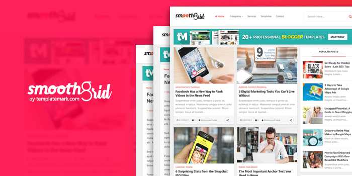 Smooth Grid Responsive Blogger Template