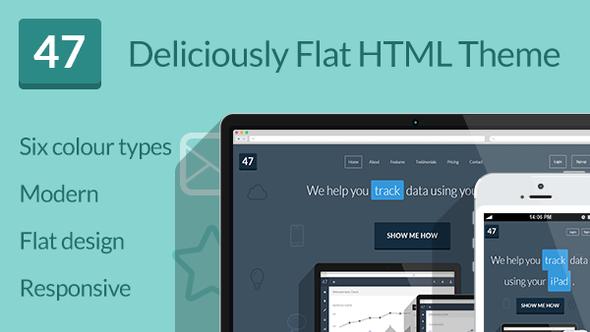 Flat Design Website Templates 023