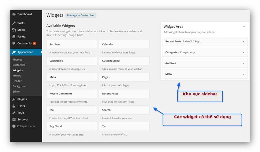 Widget WordPress Thumb