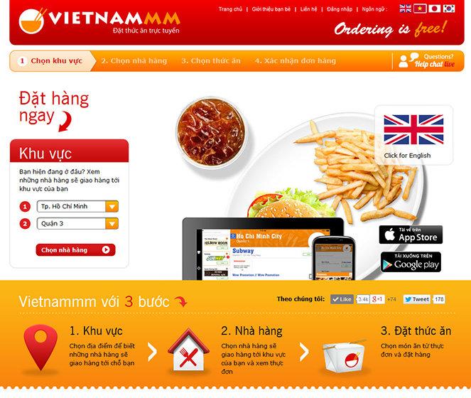 Thiết kế web ẩm thực online