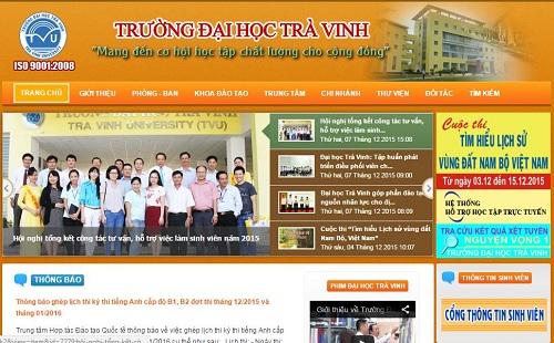 Website Đại Học Trà Vinh Sơ đồ Và Cách Tìm Thông Tin Mới Và Nhanh Nhất