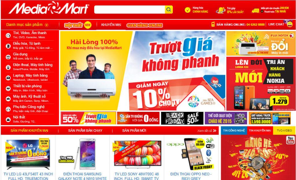 Thiet Ke Website Sieu Thi