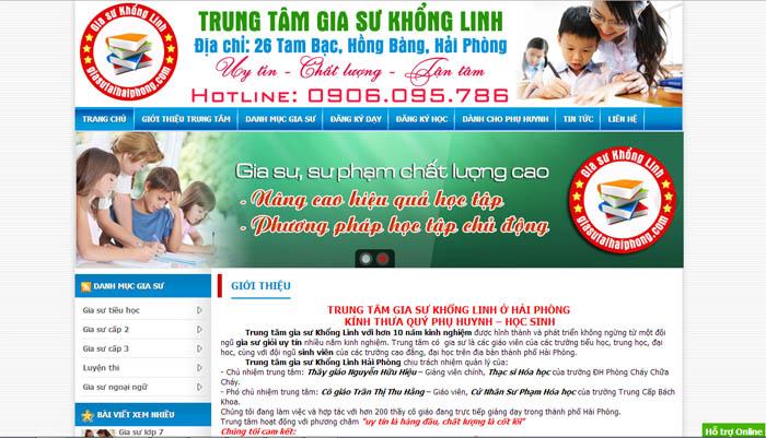 Thiet Ke Website Trung Tam Gia Su