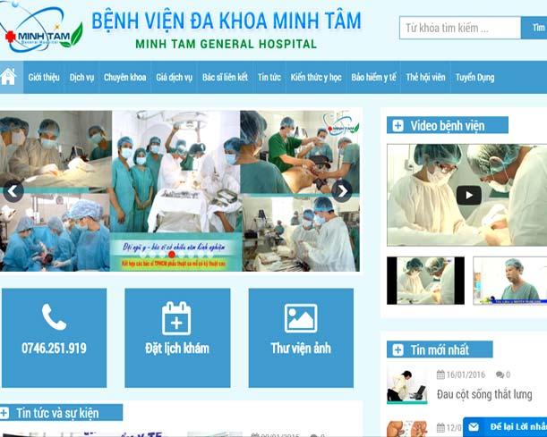 Thietkeweb360.vn Web Design Hospital
