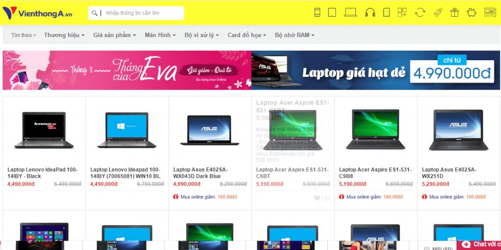 Trang Web Ban Hang Laptop Online 2