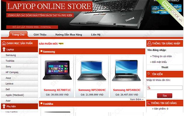 Xay Dung Website Ban May Tinh Xach Tay Truc Tuyen Code Php Va Bao Cao 0