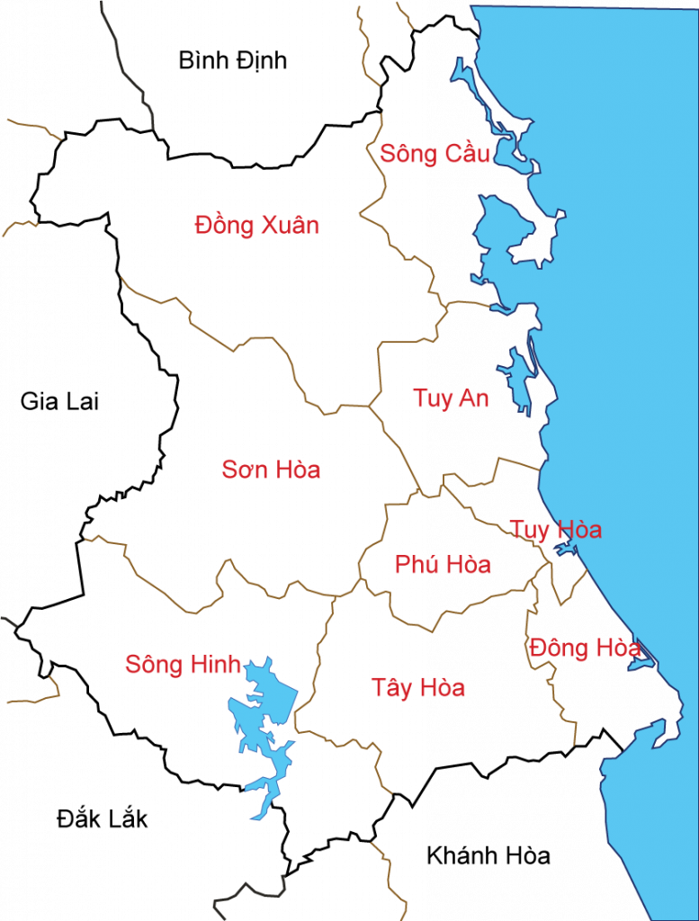 Map Of Phu Yen