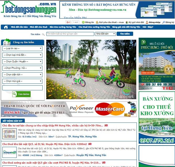Thiết kế web ở tại Hưng Yên