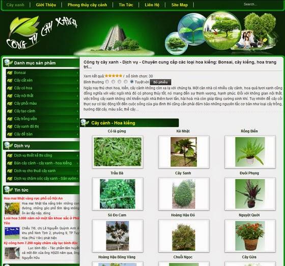 Thiet Ke Website Cay Canh Chuyen Nghiep