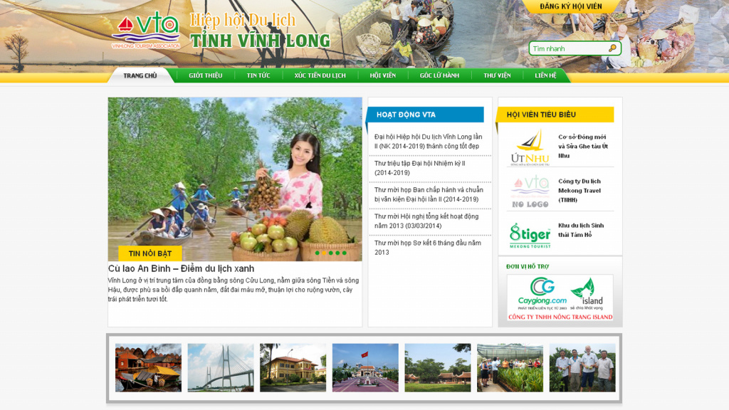 Vinhlongtourism Website
