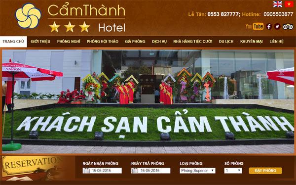 Web Khach San Cam Thanh