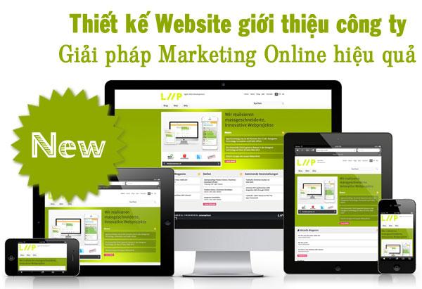 Thiet Ke Web Gioi Thieu Cong Ty
