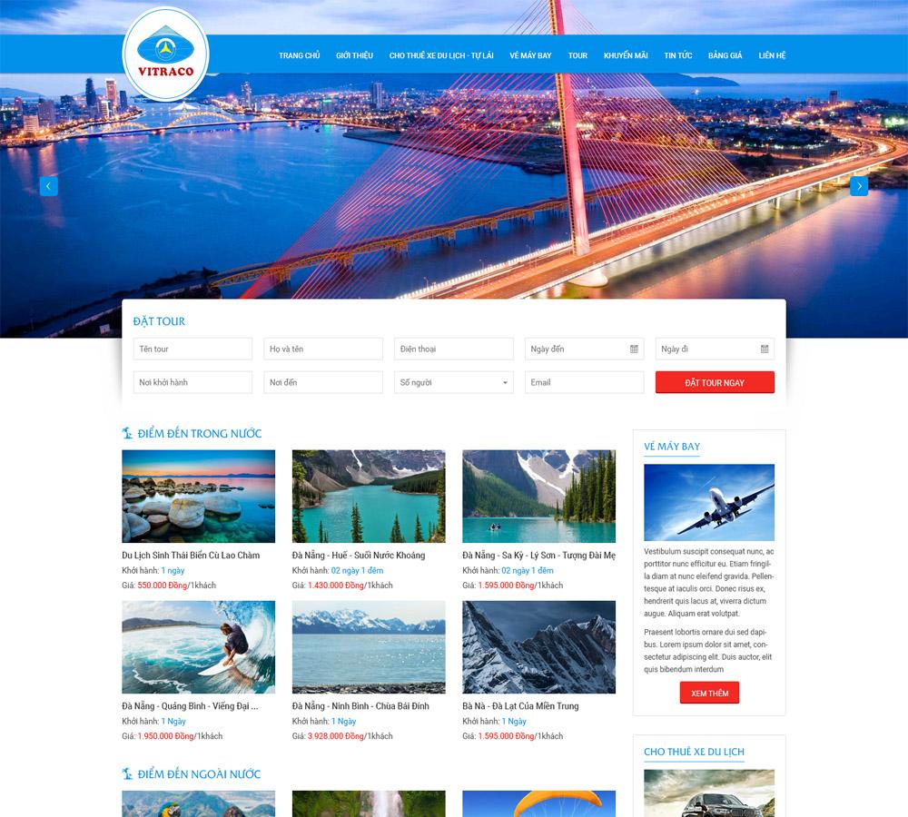 Thiết kế web đặt tour du lịch tại Đà Nẵng đang được nhiều người quan tâm