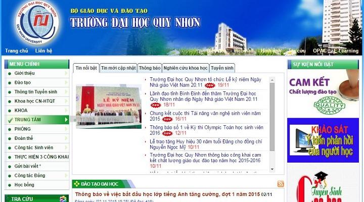 Website Đại Học Quy Nhơn Sơ đồ Và Cách Tìm Thông Tin Mới Và Nhanh Nhất