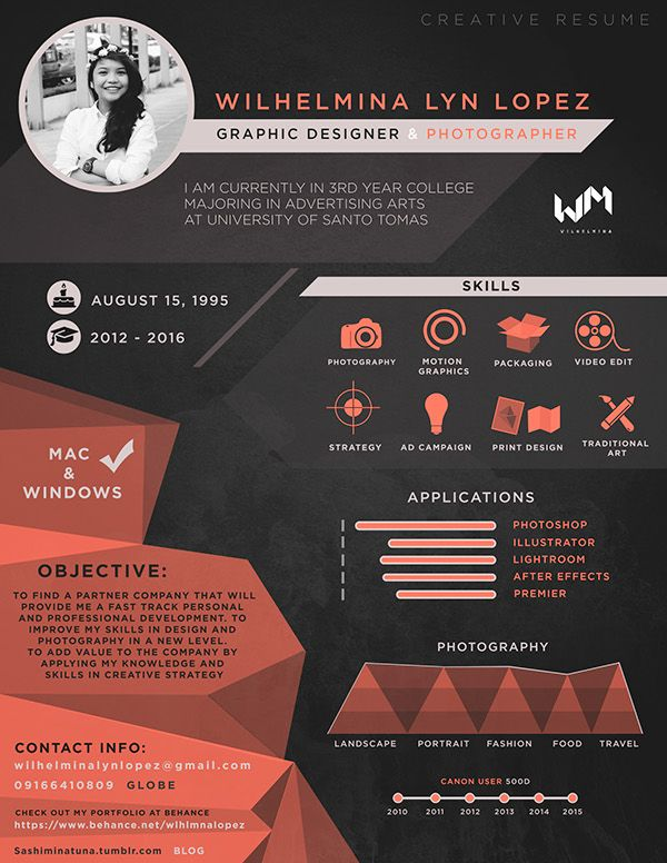 Bb1c02f0227a208e92e7e1a352e1027e Resume Designer Creative Graphic Design Resume Creative
