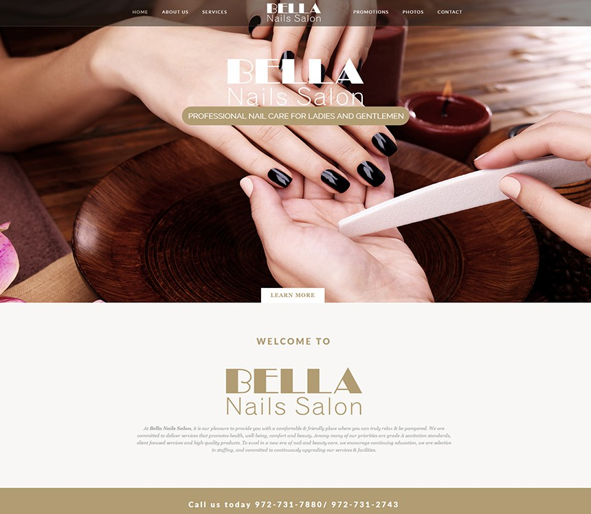 Bella Nails Salon Portfolio Bestsalonwebsites