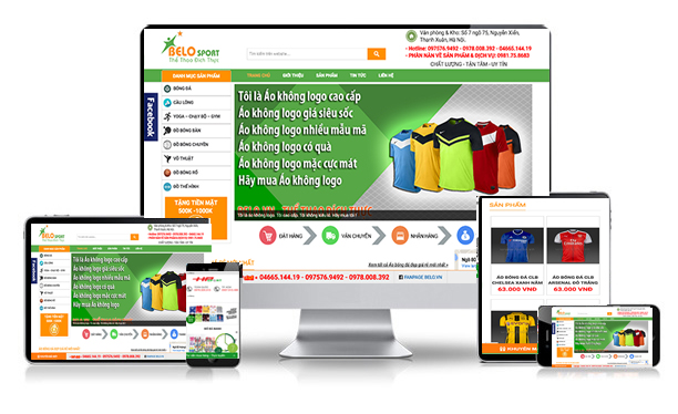 Thiet ke web shop the thao
