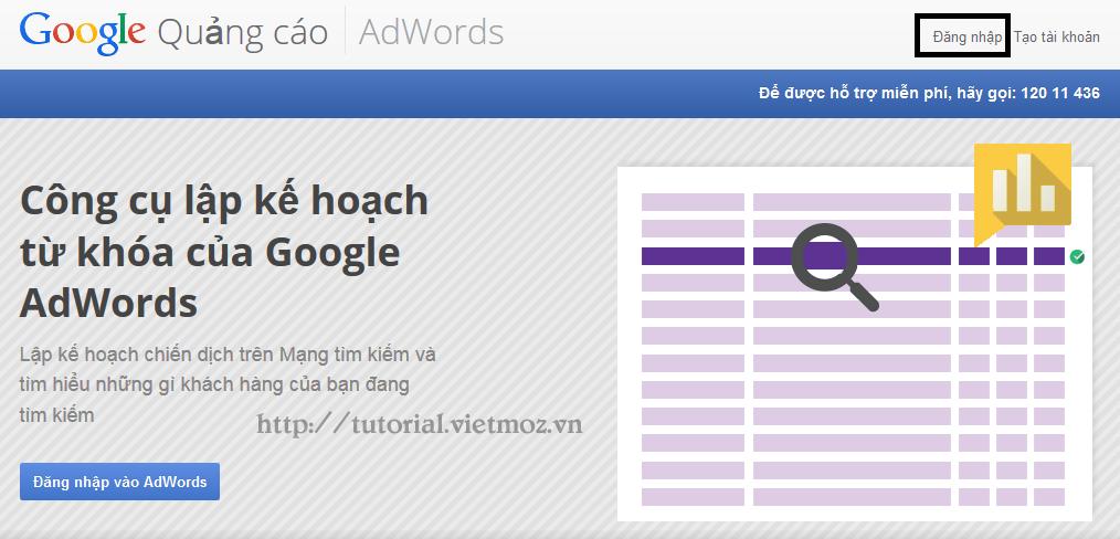 Dang Nhap Vao Google Keywords Planner